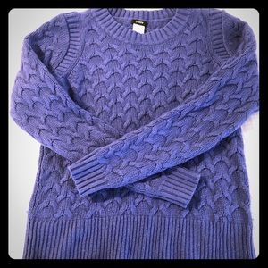 Blue Jcrew cable knit sweater